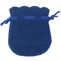 Velour-Beutel royalblau