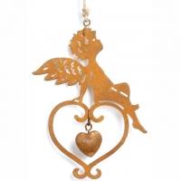 Liebes-Engelchen aus rostigem Metall