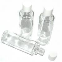 Glasflaschen 3er Set mit Deckel weiss ..