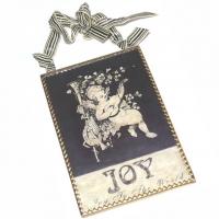 Glasschild Engel Joy