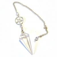 Pendel Bergkristall Pentagramm
