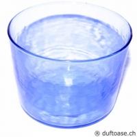 Glas blau transparent 7,5 x 6 cm