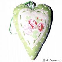 Herz Romantic Stoff grün