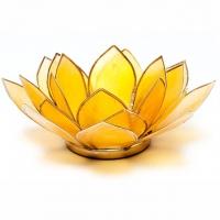 Drittes Chakra Lotus Teelichthalter gelb