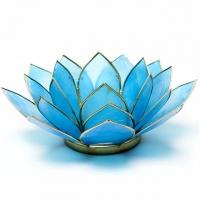 Fünftes Chakra Lotus Teelichthalter tü..