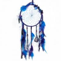 Traumfänger Magie blau mit Amethyst B ..