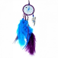 Traumfänger Magie violett 6,5 cm mit B..