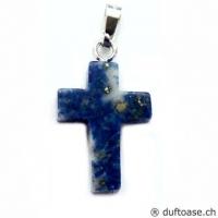 Kreuz Lapislazuli Anhänger