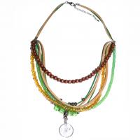 Indianer-Halskette mit Traumfänger grü..