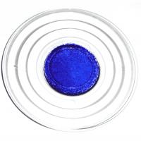 Glasteller blau