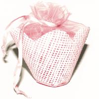Organza-Täschchen rosa