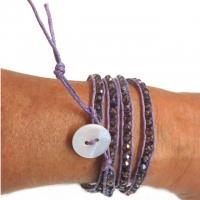 Wickelarmband Purple Velvet Schmuckperlen